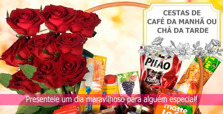 Cestas De Café Da Manhã Com Frutas Chocolates E Mais Uniflores