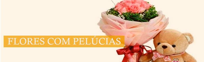 Flores com Pelúcias
