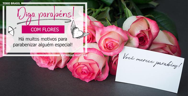 Envie Parabéns com flores e cestas!