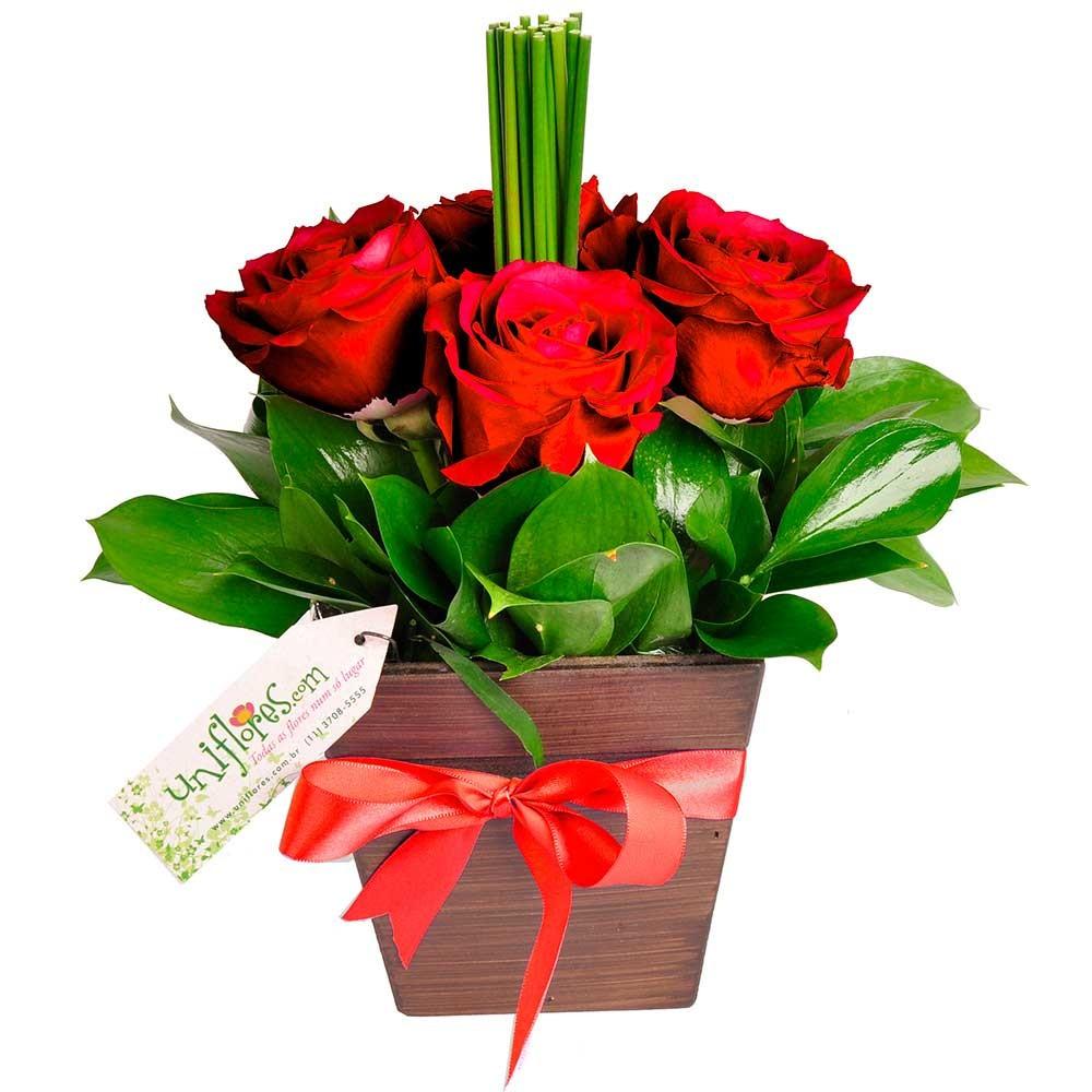 Arranjo de flores Quarteto de Rosas