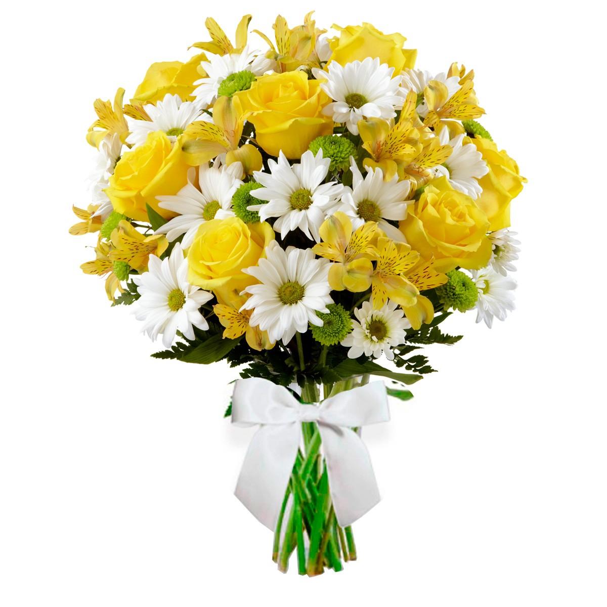 Buque Radiante - Flores em tons de amarelo