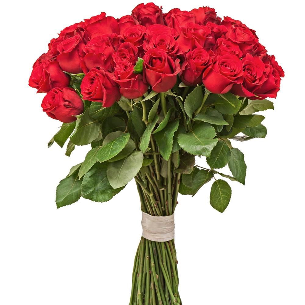 Buquê de rosas luxo com 50 flores