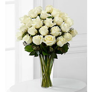 Bouquet of Only White Roses