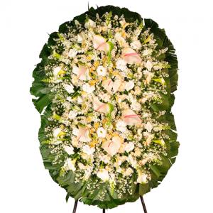 Coroa de Flores Premium Safira Dupla