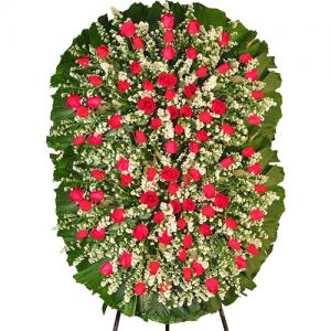 Coroa de Flores Luxo Rubi Dupla
