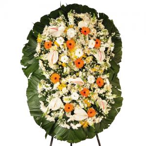 Coroa de Flores Dupla Super Luxo Gold