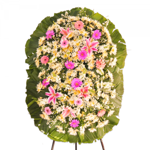 Coroa de Flores Dupla Super Luxo Rubi