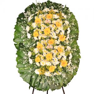 Coroa de Flores Premium Gold Dupla