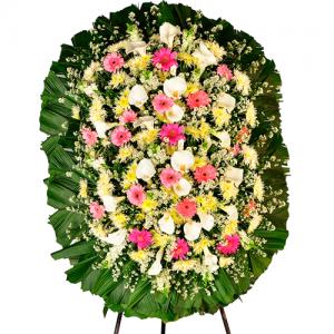Coroa de Flores Luxo Safira Dupla