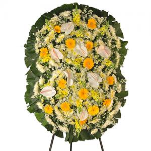 Coroas de Flores Dupla Luxo Gold