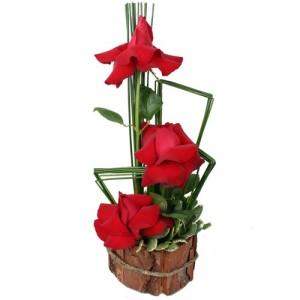 Arranjo 3 rosas Litlle Red