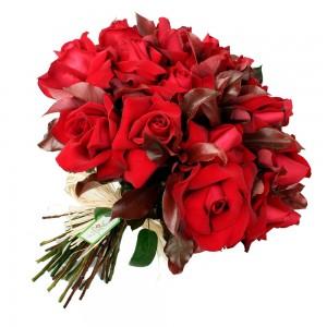 Buque com 24 rosas colombianas