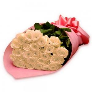 Buquê de rosas Brancas luxo