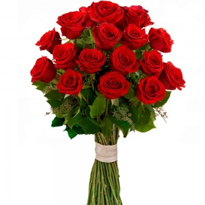 Tradition Flower bouquet with 18 roses