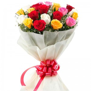 Buquê de Flores Carinho das Rosas Colorido