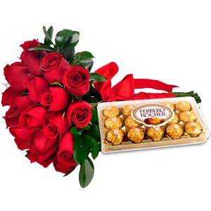 Buque DOCE AMOR - ROSAS COM CHOCOLATE