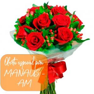 Buque de rosas para Manaus - AM
