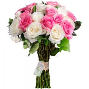 Buquê de Rosas Cores e Amores Pink and Whit