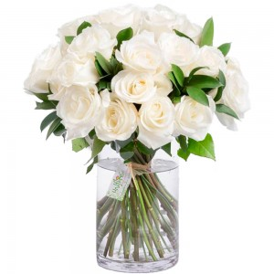 Buquê Tradition White Roses no Vaso