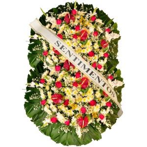 Coroa de Flores Premium Rubi Dupla