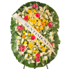 Coroa de Flores Dupla Luxo Safira