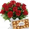 Buque 12 Rosas Vermelhas com Bombons