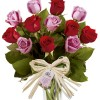 Buquê Dia dos Namorados 2021 Bombons com rosas coloridas no vaso
