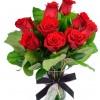Buquê de Rosas Dia dos Namorados com Vaso de Vidro