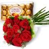 Flores: rosas e chocolates