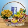 Cesta de Café da Manhã Surpresa com Flores e Chocolates