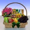 Café da Manhã Delicado com Flores e Frutas