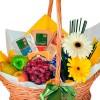 Cesta Café da Manhã Feliz Super Luxo com frutas e frios