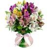 Arranjo de flores com Alstroemérias Flores Cores e Amores