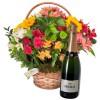 Cesta Luxo de Flores com Espumante