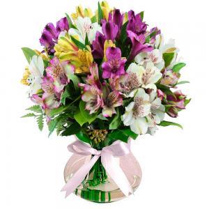 Arranjo de Flores Cores e Amores