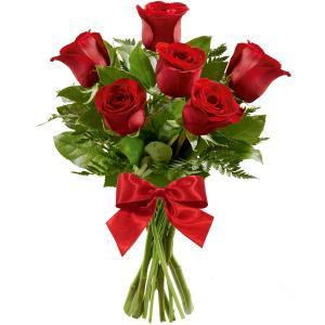 Ramalhete de Flores Charme com 6 Rosas