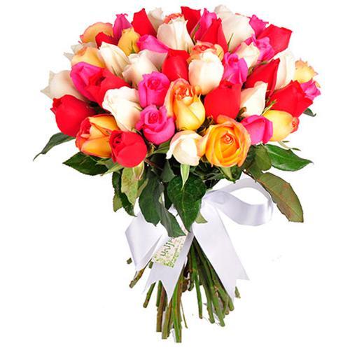 Buquê Supreme Colorido Luxo 50 Rosas
