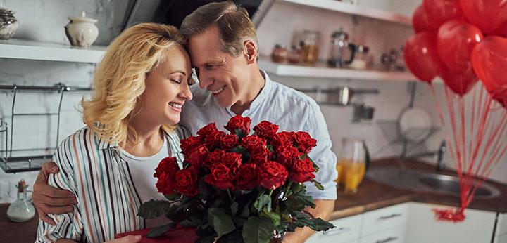 Flores para ela no dia dos Namorados
