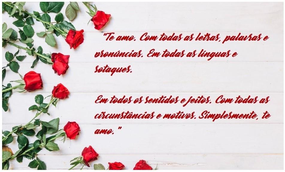 Flores com mensagens